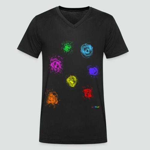 Farben png - Männer Bio-T-Shirt mit V-Ausschnitt von Stanley & Stella