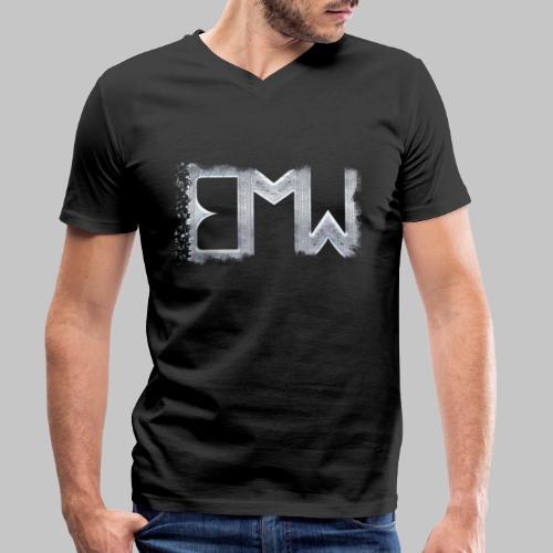 EMW Logo White Cut - Men's Organic V-Neck T-Shirt by Stanley & Stella