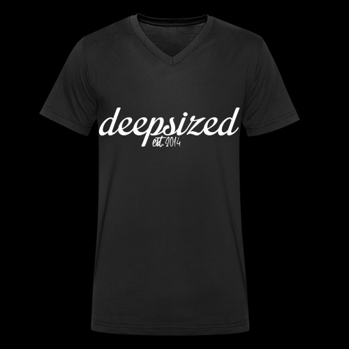 Deepsized_weiß_spreadshir - Männer Bio-T-Shirt mit V-Ausschnitt von Stanley & Stella