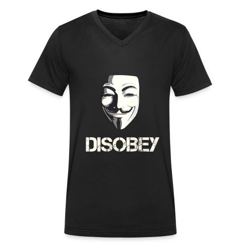Anonymous Disobey gif - Økologisk T-skjorte med V-hals for menn fra Stanley & Stella