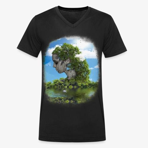 Land of Id - Ekologisk T-shirt med V-ringning herr från Stanley & Stella