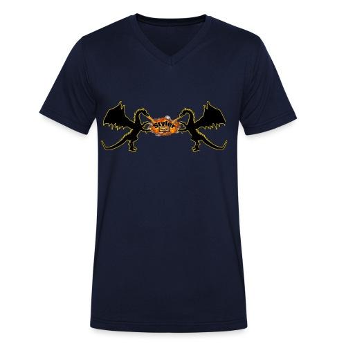 Styler Draken Design - Mannen bio T-shirt met V-hals van Stanley & Stella
