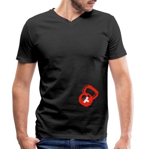 Kettlebell Nation - Männer Bio-T-Shirt mit V-Ausschnitt von Stanley & Stella