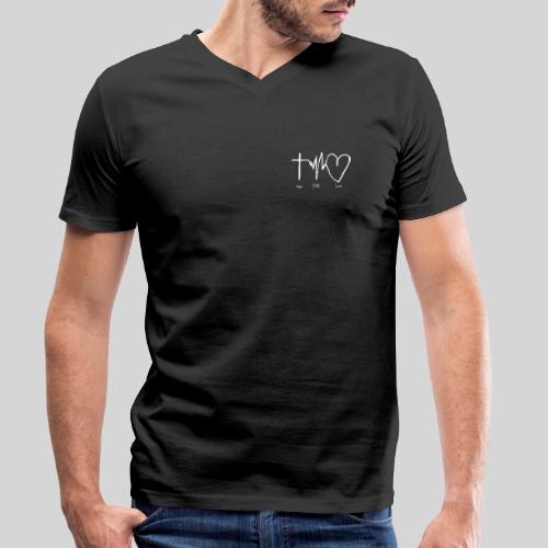 Hoffnung Glaube Liebe - hope faith love - Männer Bio-T-Shirt mit V-Ausschnitt von Stanley & Stella