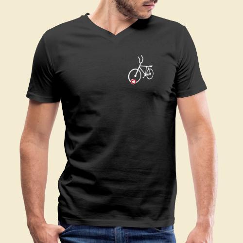 Radball | Cycle Ball Polo white - Männer Bio-T-Shirt mit V-Ausschnitt von Stanley & Stella