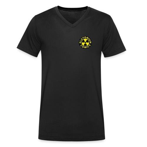 Plutonium comics logo - Ekologisk T-shirt med V-ringning herr från Stanley & Stella