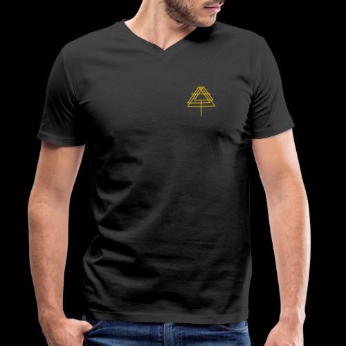 Naima Yellow - Men's Organic V-Neck T-Shirt by Stanley & Stella