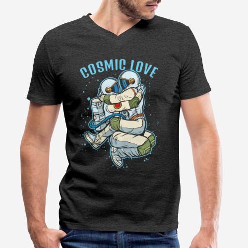 kosmische Liebe Astronautenraum - Männer Bio-T-Shirt mit V-Ausschnitt von Stanley & Stella