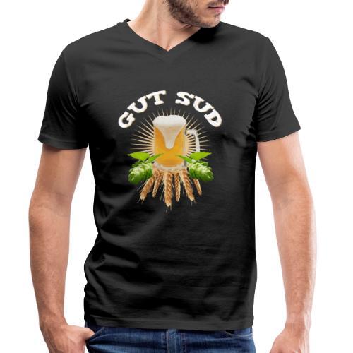 Hobbybrauer Gut Sud - Männer Bio-T-Shirt mit V-Ausschnitt von Stanley & Stella