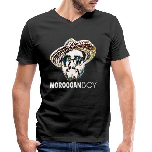 MOROCCAN BOY WHITE - T-shirt bio col V Stanley & Stella Homme
