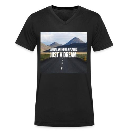 LuxuryQuote - Mannen bio T-shirt met V-hals van Stanley & Stella