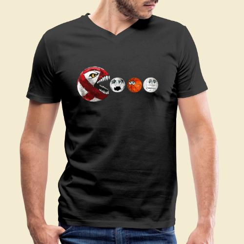 Radball | Cycle Ball RedMan - Männer Bio-T-Shirt mit V-Ausschnitt von Stanley & Stella