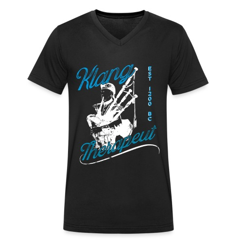 Lustiges Dudelsackspieler T-Shirt Klangtherapeut - Männer Bio-T-Shirt mit V-Ausschnitt von Stanley & Stella