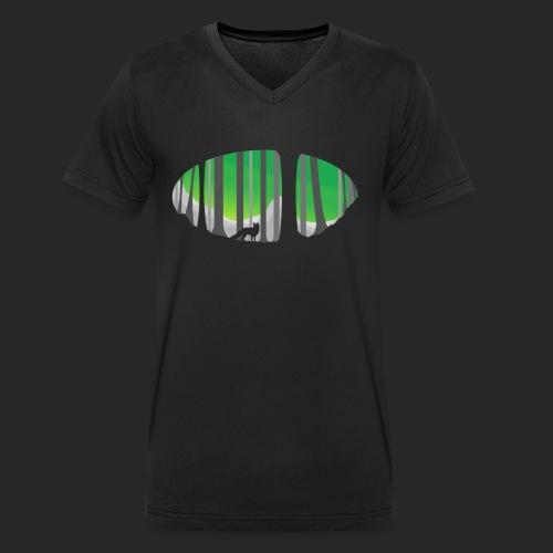 Forest Fox - Men's Organic V-Neck T-Shirt by Stanley & Stella
