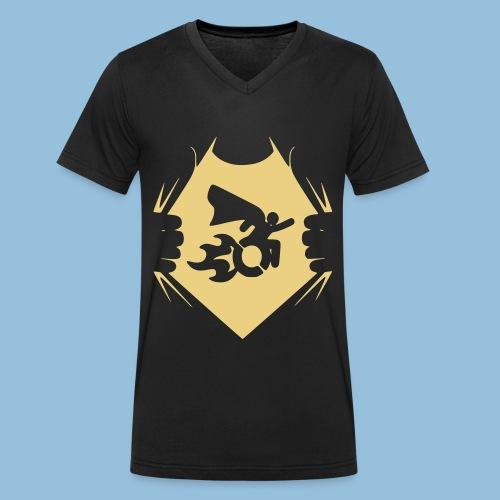 Wheelchair shirt 001 - Mannen bio T-shirt met V-hals van Stanley & Stella