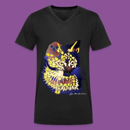 Katze 9 - Männer Bio-T-Shirt mit V-Ausschnitt von Stanley & Stella