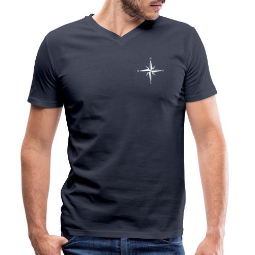 Kompas white - Økologisk Stanley & Stella T-shirt med V-udskæring til herrer