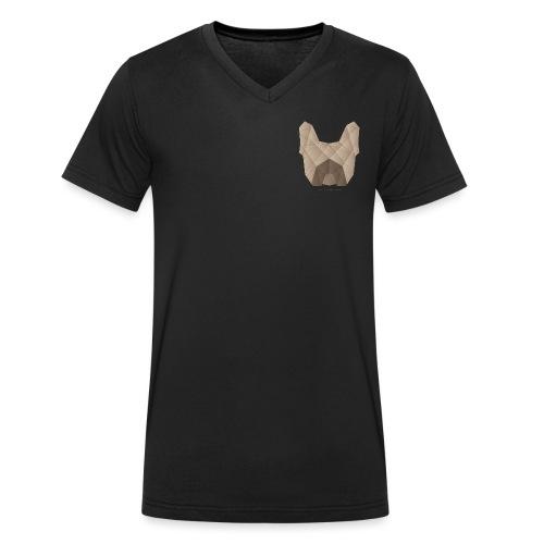 Geometric Frenchie fawn - Französische Bulldogge - Männer Bio-T-Shirt mit V-Ausschnitt von Stanley & Stella