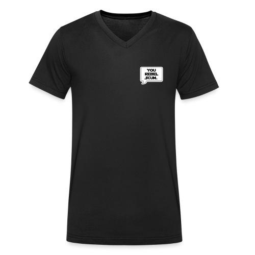 Rebel Scum - Mannen bio T-shirt met V-hals van Stanley & Stella