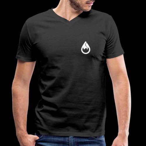 WS-Crew Tropfen-Logo weiß - Männer Bio-T-Shirt mit V-Ausschnitt von Stanley & Stella