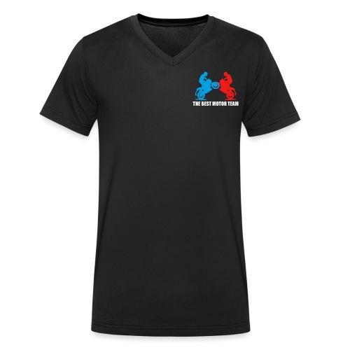Najlepszy zespół motocyklistów - Ekologiczna koszulka męska z dekoltem w serek Stanley & Stella