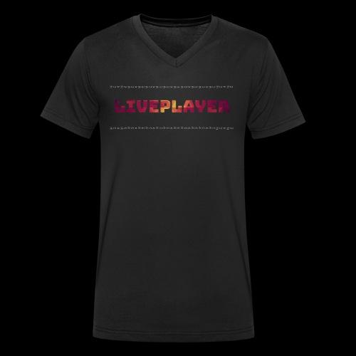 LivePlayer V.7 Weiße Umrandung - Männer Bio-T-Shirt mit V-Ausschnitt von Stanley & Stella