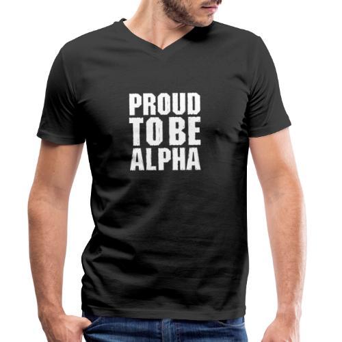 Proud to be Alpha - Männer Bio-T-Shirt mit V-Ausschnitt von Stanley & Stella