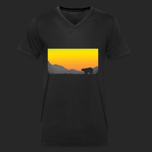 Sunrise Polar Bear - Men's Organic V-Neck T-Shirt by Stanley & Stella