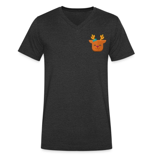 When Deers Smile by EmilyLife® - Men's Organic V-Neck T-Shirt by Stanley & Stella