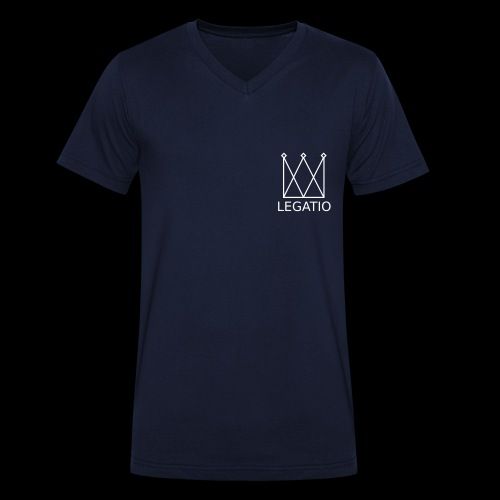 Legatio Plain - Men's Organic V-Neck T-Shirt by Stanley & Stella