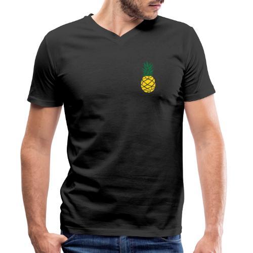 Pineapple - Mannen bio T-shirt met V-hals van Stanley & Stella