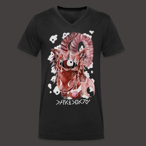 capricorne Négutif - T-shirt bio col V Stanley & Stella Homme