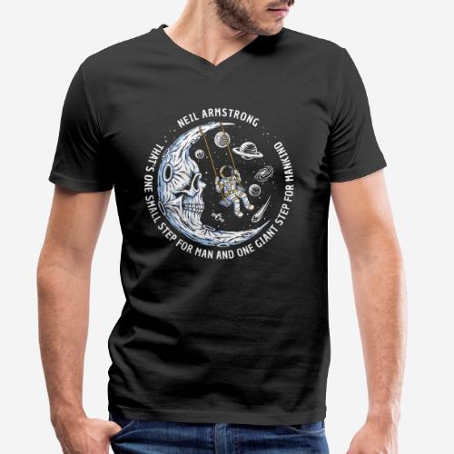 moon astronaut stars space - Männer Bio-T-Shirt mit V-Ausschnitt von Stanley & Stella
