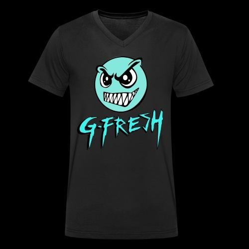 G-Fresh logo - Mannen bio T-shirt met V-hals van Stanley & Stella