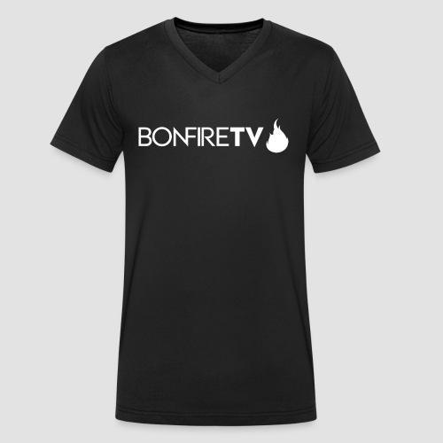BonfireTV Logo - Männer Bio-T-Shirt mit V-Ausschnitt von Stanley & Stella