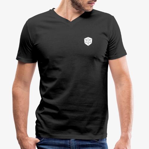 WHITE // LOGO ONLY - Men's Organic V-Neck T-Shirt by Stanley & Stella