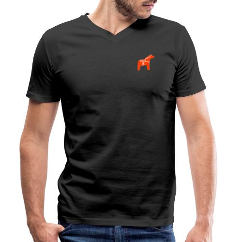 Dala by Pinni Art® rot - Männer Bio-T-Shirt mit V-Ausschnitt von Stanley & Stella