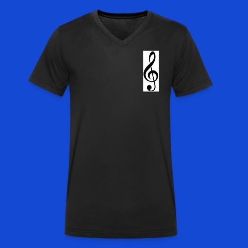 musical - Camiseta ecológica hombre con cuello de pico de Stanley & Stella