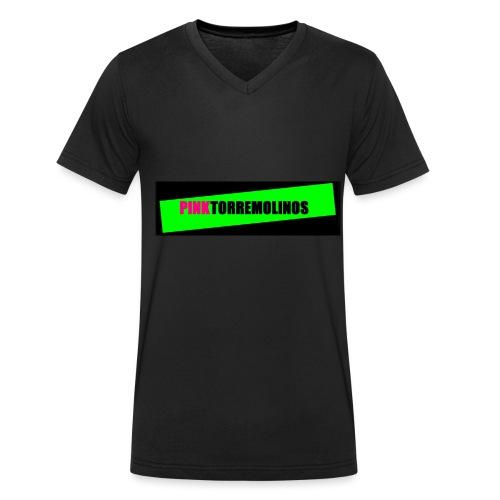 pinklogo - Mannen bio T-shirt met V-hals van Stanley & Stella