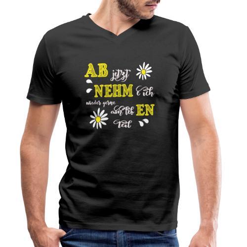 AB jetzt NEHMe ich wieder gerne am lebEN teil - Männer Bio-T-Shirt mit V-Ausschnitt von Stanley & Stella