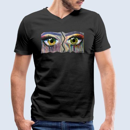 NEU! Open Eyes - Männer Bio-T-Shirt mit V-Ausschnitt von Stanley & Stella