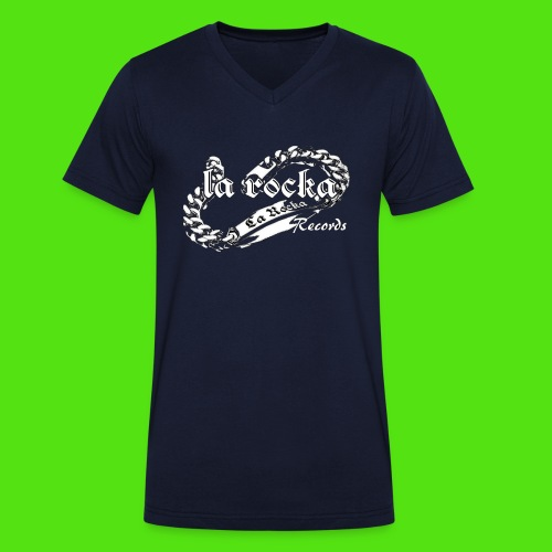 La Rocka black'n'white tp - Men's Organic V-Neck T-Shirt by Stanley & Stella