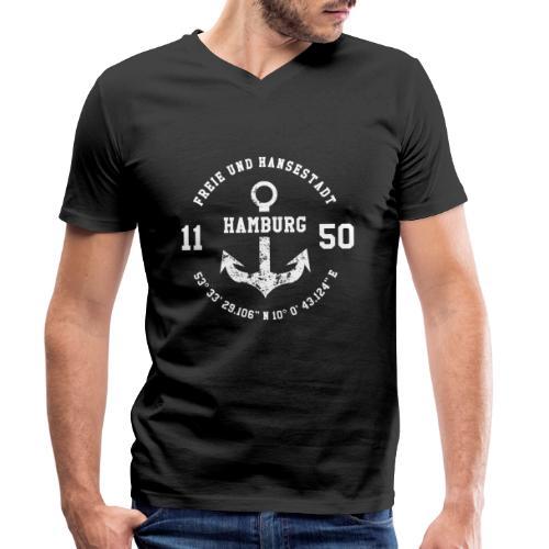Freie und Hansestadt Hamburg 1150 weiss - Männer Bio-T-Shirt mit V-Ausschnitt von Stanley & Stella