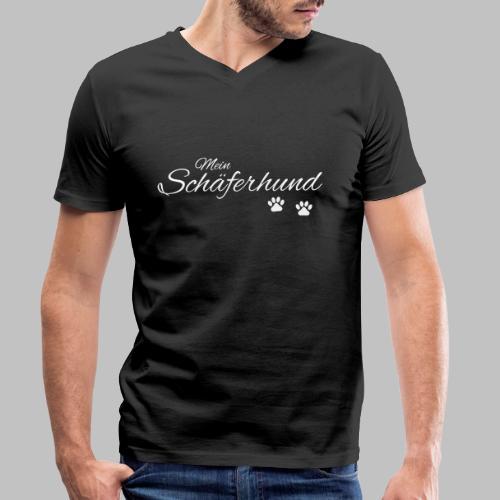 Mein Schäferhund - T-Shirt - Hoodie - Pullover - Männer Bio-T-Shirt mit V-Ausschnitt von Stanley & Stella