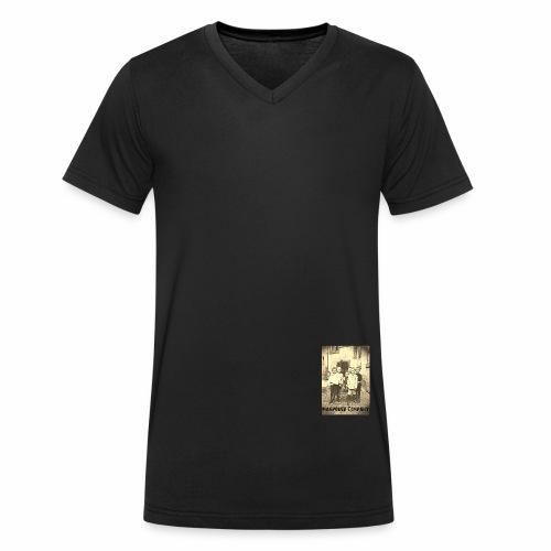 Manpower Company - Männer Bio-T-Shirt mit V-Ausschnitt von Stanley & Stella