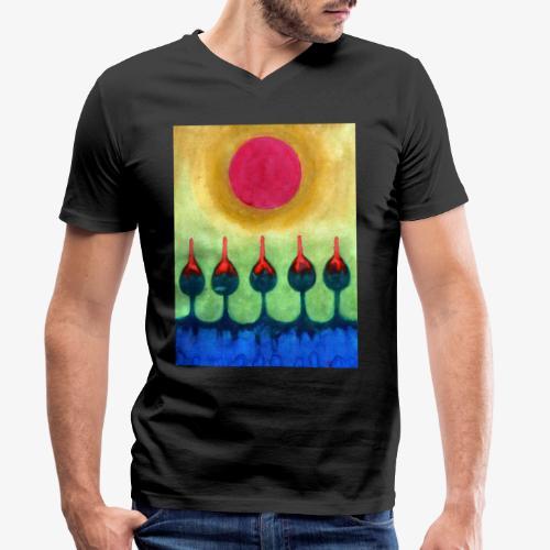 Zenit - Ekologiczna koszulka męska z dekoltem w serek Stanley & Stella