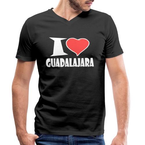 I love Guadalajara - Männer Bio-T-Shirt mit V-Ausschnitt von Stanley & Stella