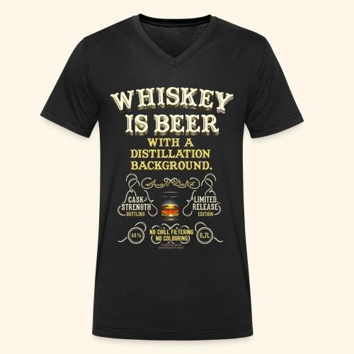 Whiskey Is Beer - Männer Bio-T-Shirt mit V-Ausschnitt von Stanley & Stella