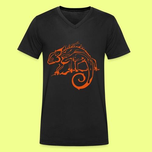 iguana - Camiseta ecológica hombre con cuello de pico de Stanley & Stella