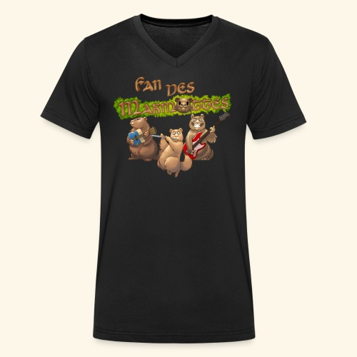 Tshirt fans - T-shirt bio col V Stanley & Stella Homme